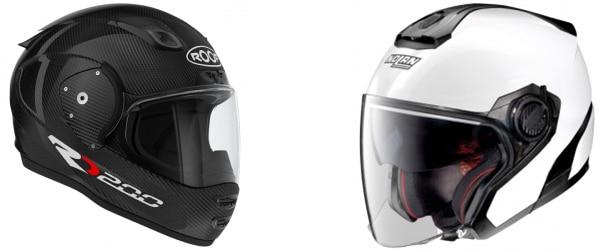 Casques moto intégral et jet